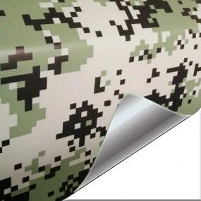 Folha Vinil Camuflagem Pixel para Carro e Moto - Oferta de 20%