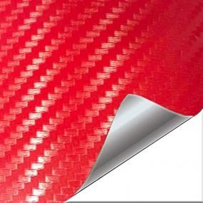 Adesivo in Vinile Rosso di Carbonio 3D per Auto e Moto
