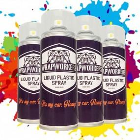 Spray Painting Wheels Car. Painted wheels