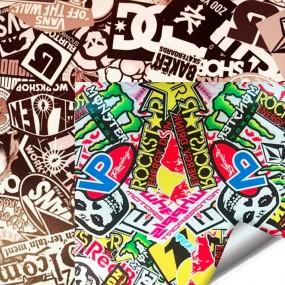 Vinyl Sticker Bomb und Hellaflush WrapWorkers®