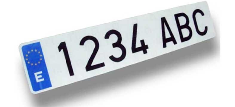 Registrazione auto