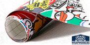 Vinyl Sticker Bomb und Hellaflush
